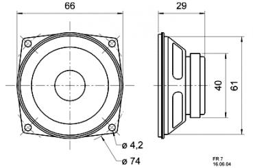 lautsprecher technik visaton fr 7 breitbandlautsprecher. Black Bedroom Furniture Sets. Home Design Ideas