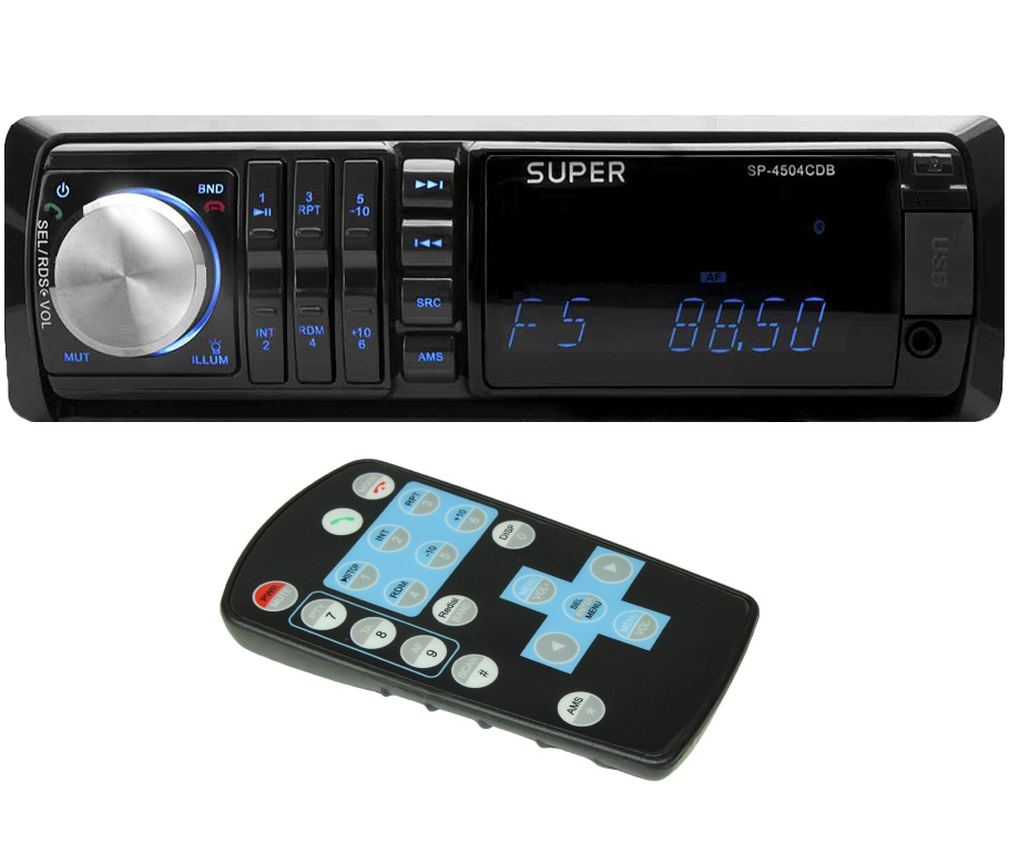 lautsprecher technik super sp 4504cdb autoradio mit cd mp3 wma player. Black Bedroom Furniture Sets. Home Design Ideas