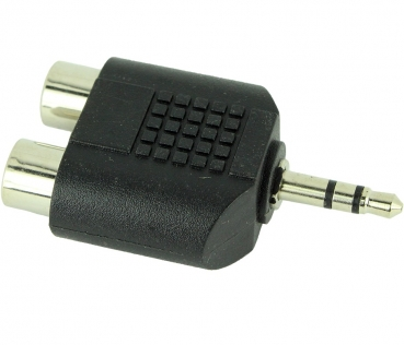 Dynavox 3.5mm Stereo Plug To Dual RCA Jack Adapter, Black