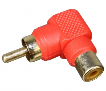 Dynavox RCA Right Angle Adapter Short, Red