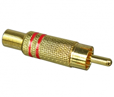 Dynavox RCA Jack, Gold Plated, Red