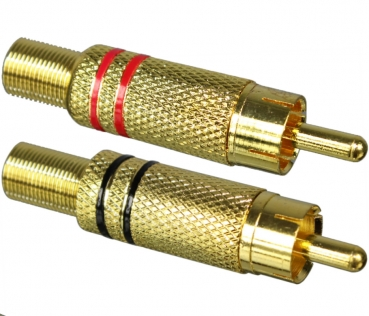 Dynavox RCA Jack, Gold Plated, Red, Black