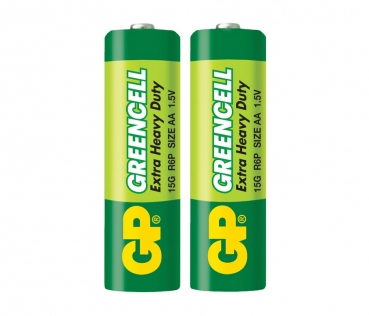 GP Greencell AA Battery 2-Pack