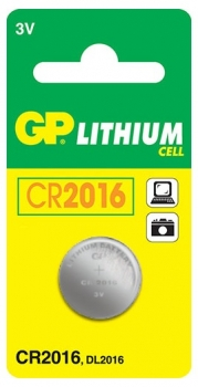 GP CR2016 Lithium Coin Cell Battery 3 V