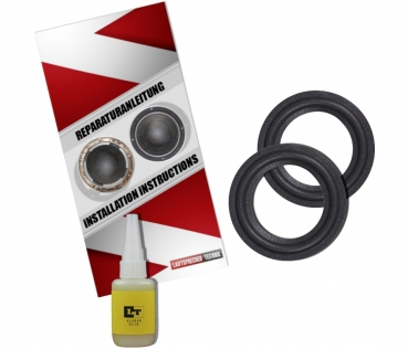 """Infinity Reference 50 8/"""" Woofer and 5/"""" Mid Speaker Foam Surround Edge Repair Kit"""