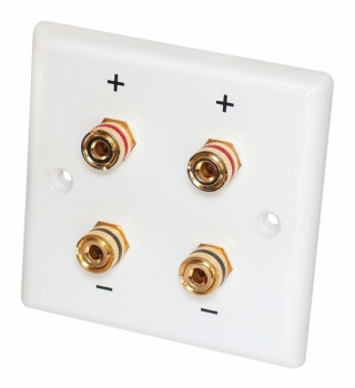 Dynavox 4 Post Binding / Banana Plug Wall Plate, 3""