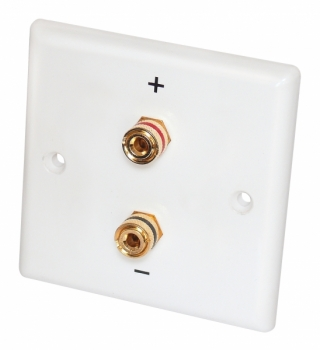 Dynavox 2 Post Binding / Banana Plug Wall Plate, 3""
