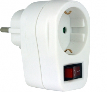 Socket Adapter Switchable White