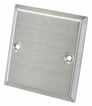 Dynavox Wall Plate, Stainless Steel, 3""